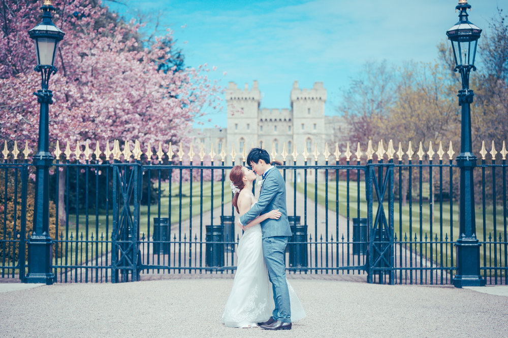 Engagement PhotoShoot  at Castle Combe and Windsor Castle-Sandy and Nick